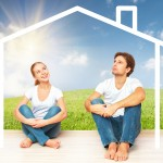 Concept:  Housing And Mortgage For Young Families. Couple Dreami